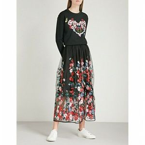 BRAND NEW!! MAJE Jamie Embroidered Tulle Skirt
